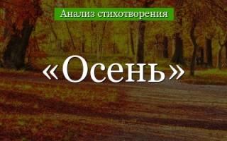 Лермонтов листья в поле пожелтели текст, анализ стихотворения о природе
